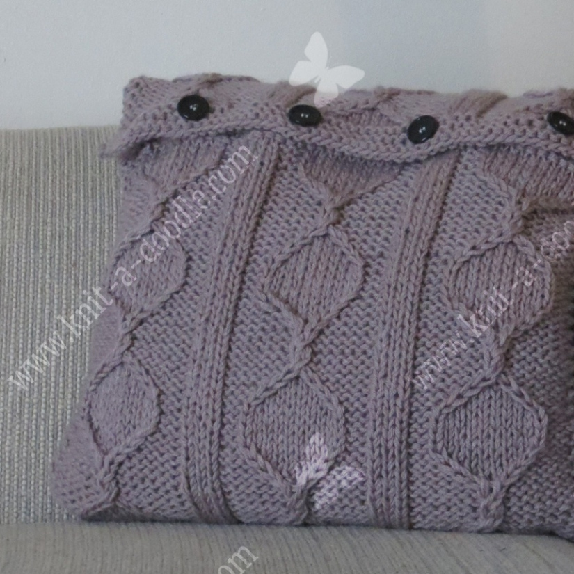 Cabled Hexagami PillowCover
