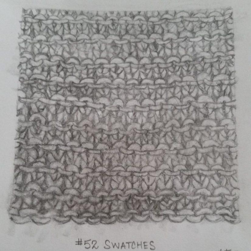 Mo. 1 Wk 2 – Garter Stitch#52swatches